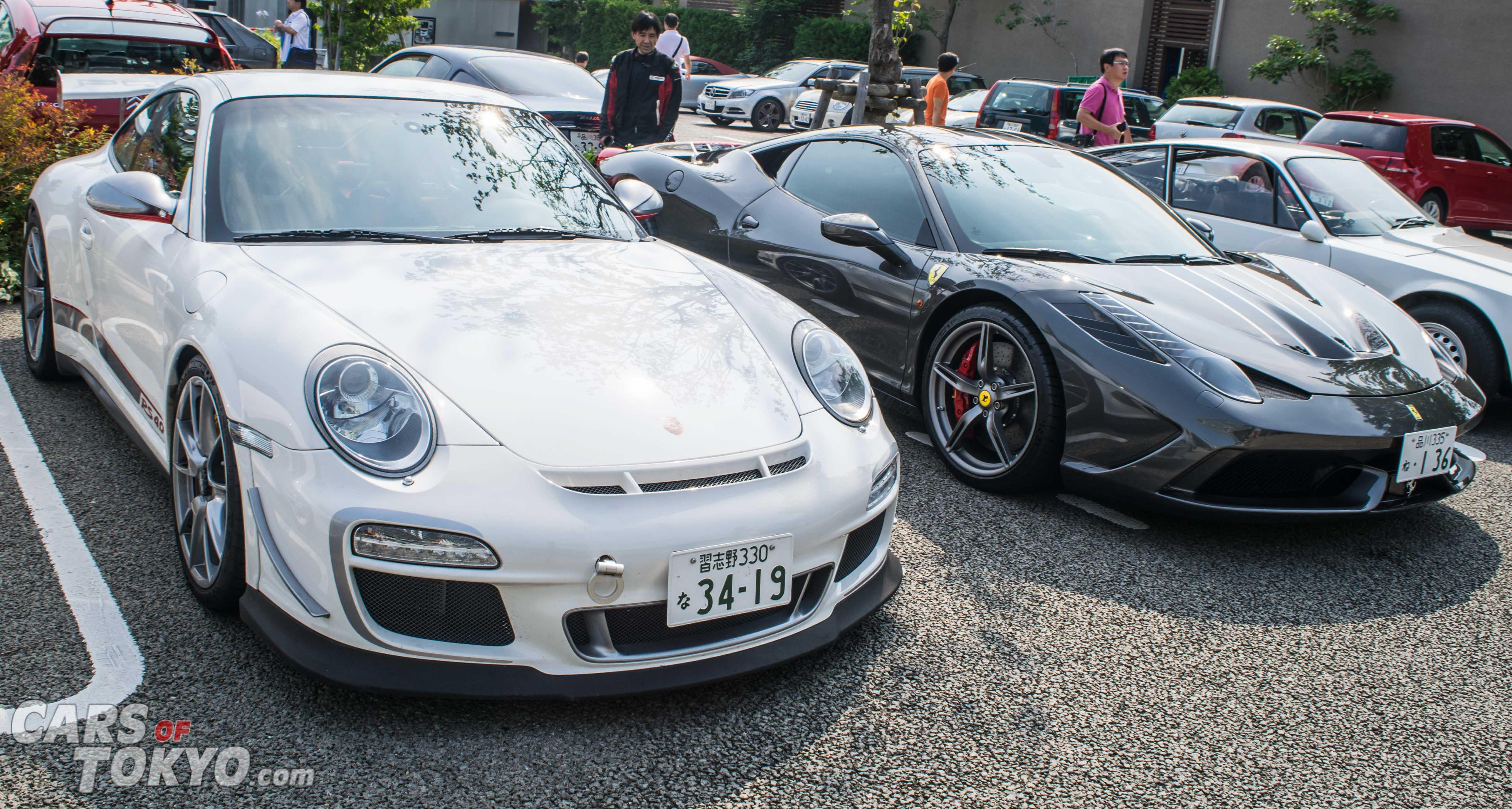 Cars of Tokyo Daikanyama Porsche 911 GT3 RS 4.0 & Ferrari 458 Speciale