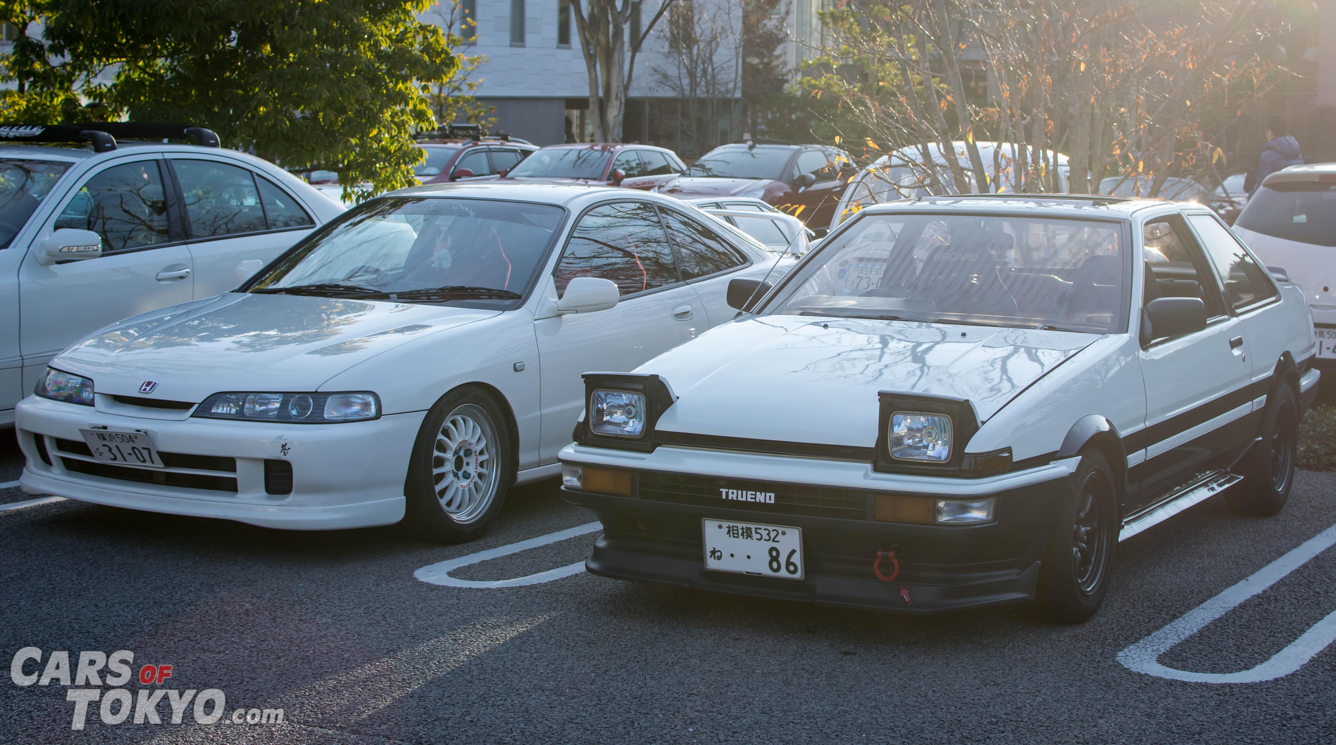Cars of Tokyo Daikanyama Toyota Trueno & Honda Integra