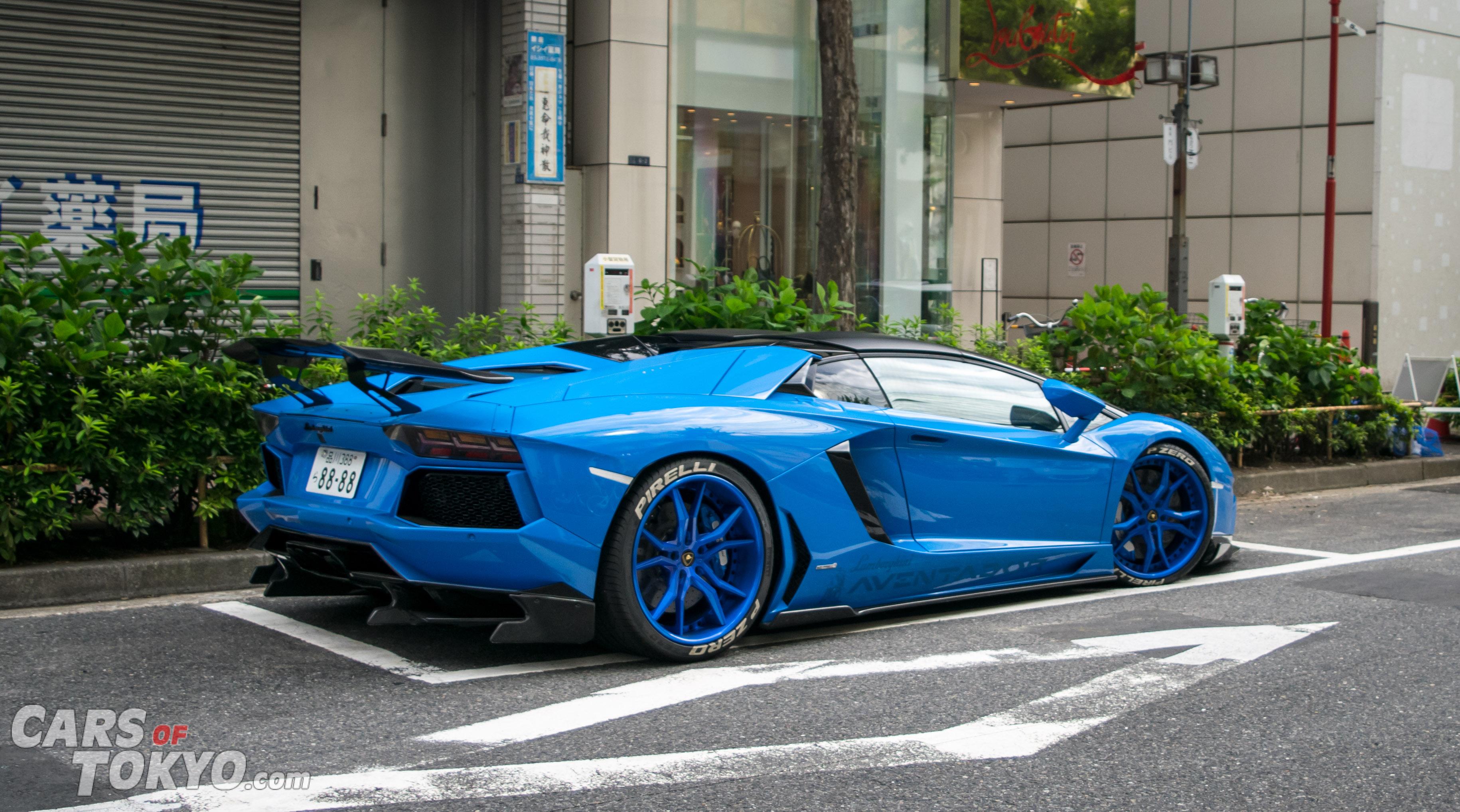 Cars of Tokyo Ginza Lamborghini Aventador Roadster