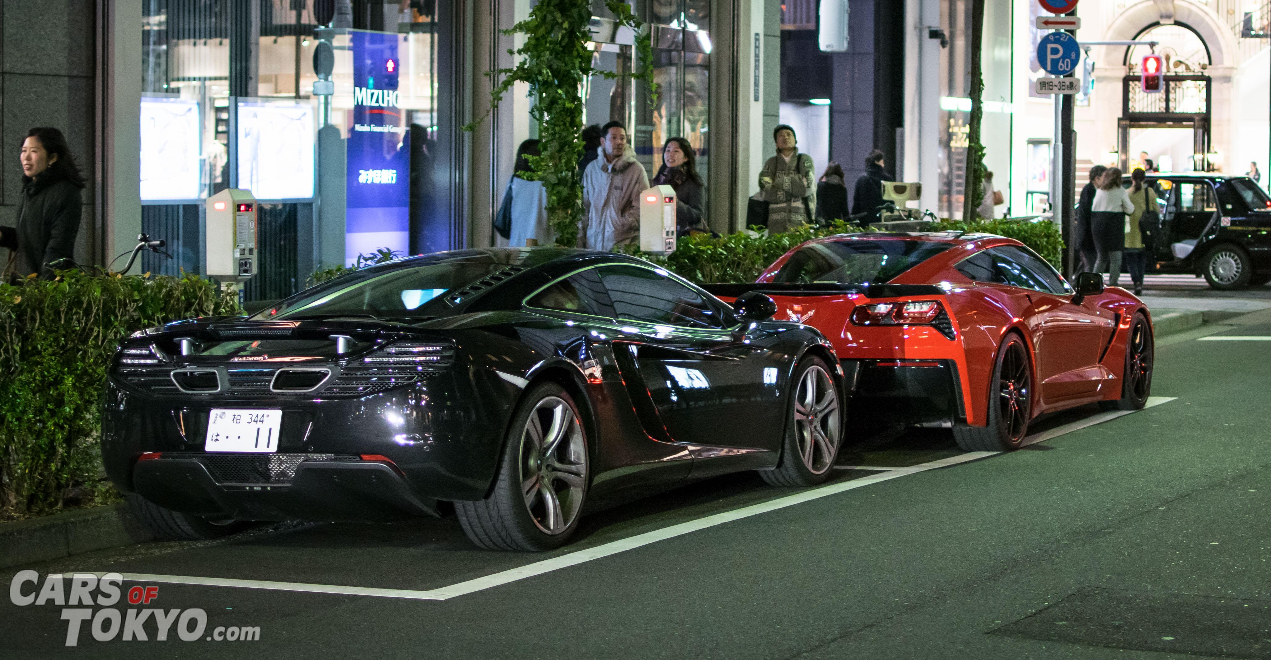Cars of Tokyo Ginza McLaren 12C & Corvette