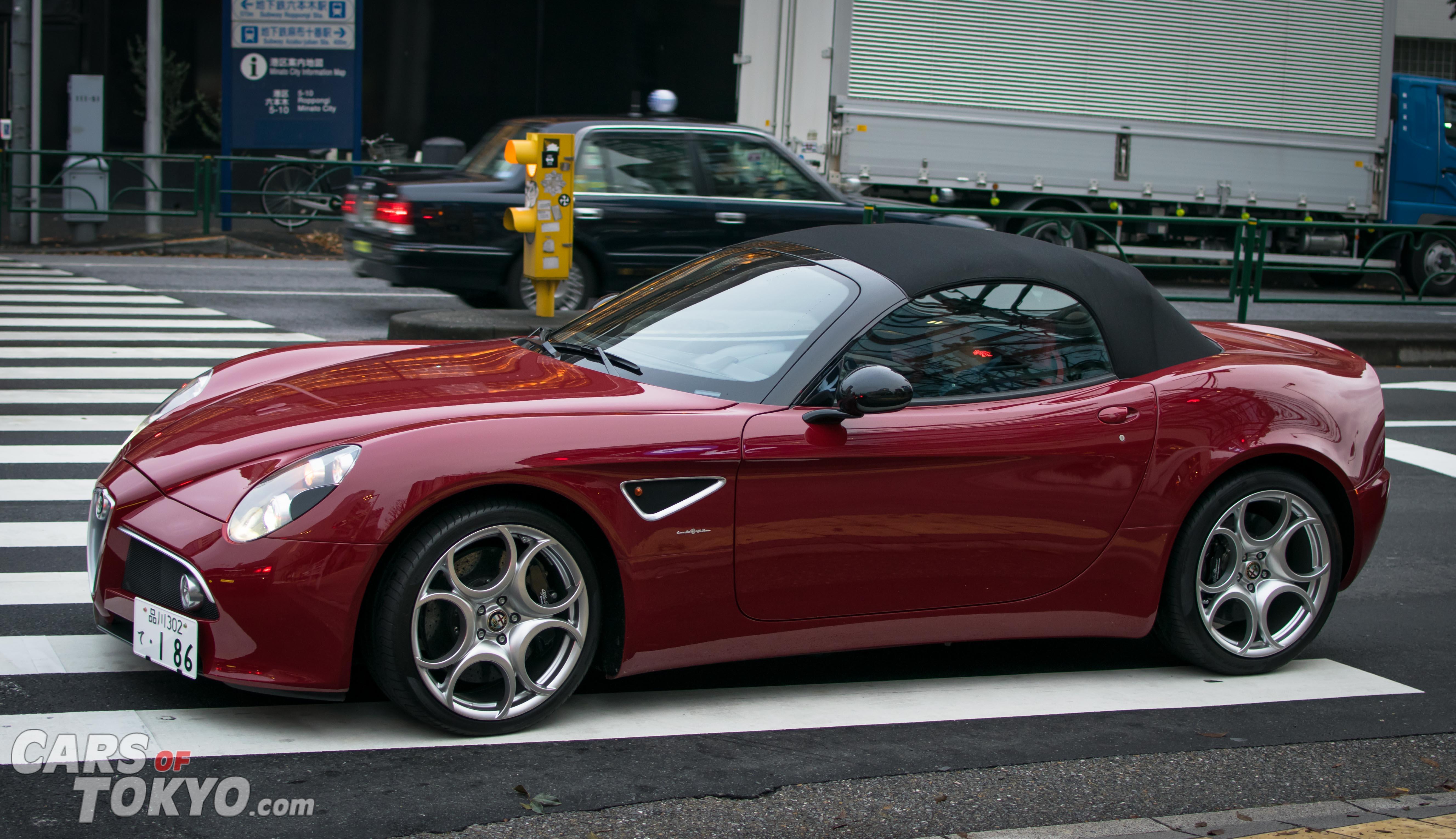 Cars of Tokyo Roppongi Alfa Romeo 8C Spider