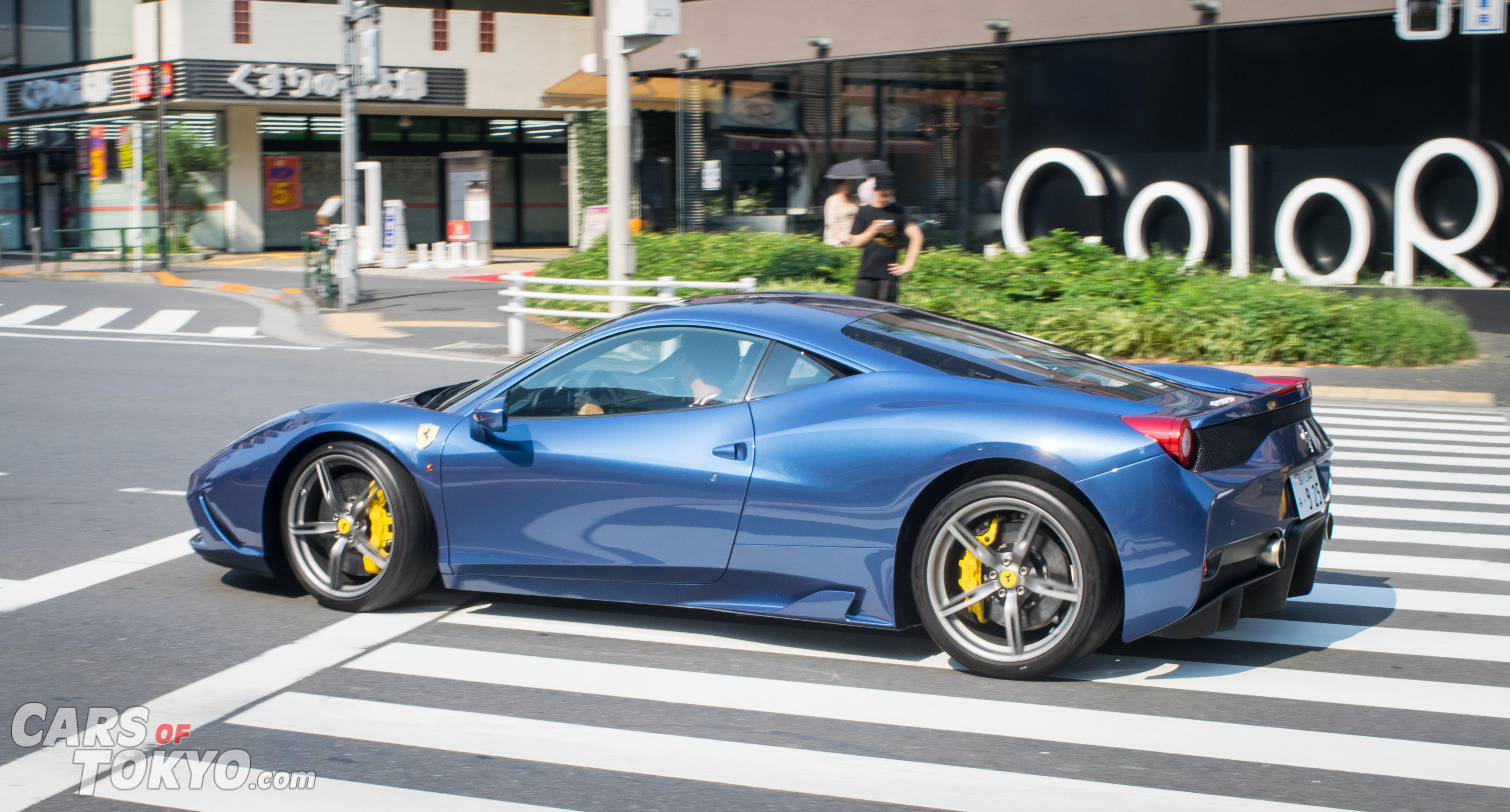 Cars of Tokyo Unusual Spec Ferrari 458 Speciale Blue